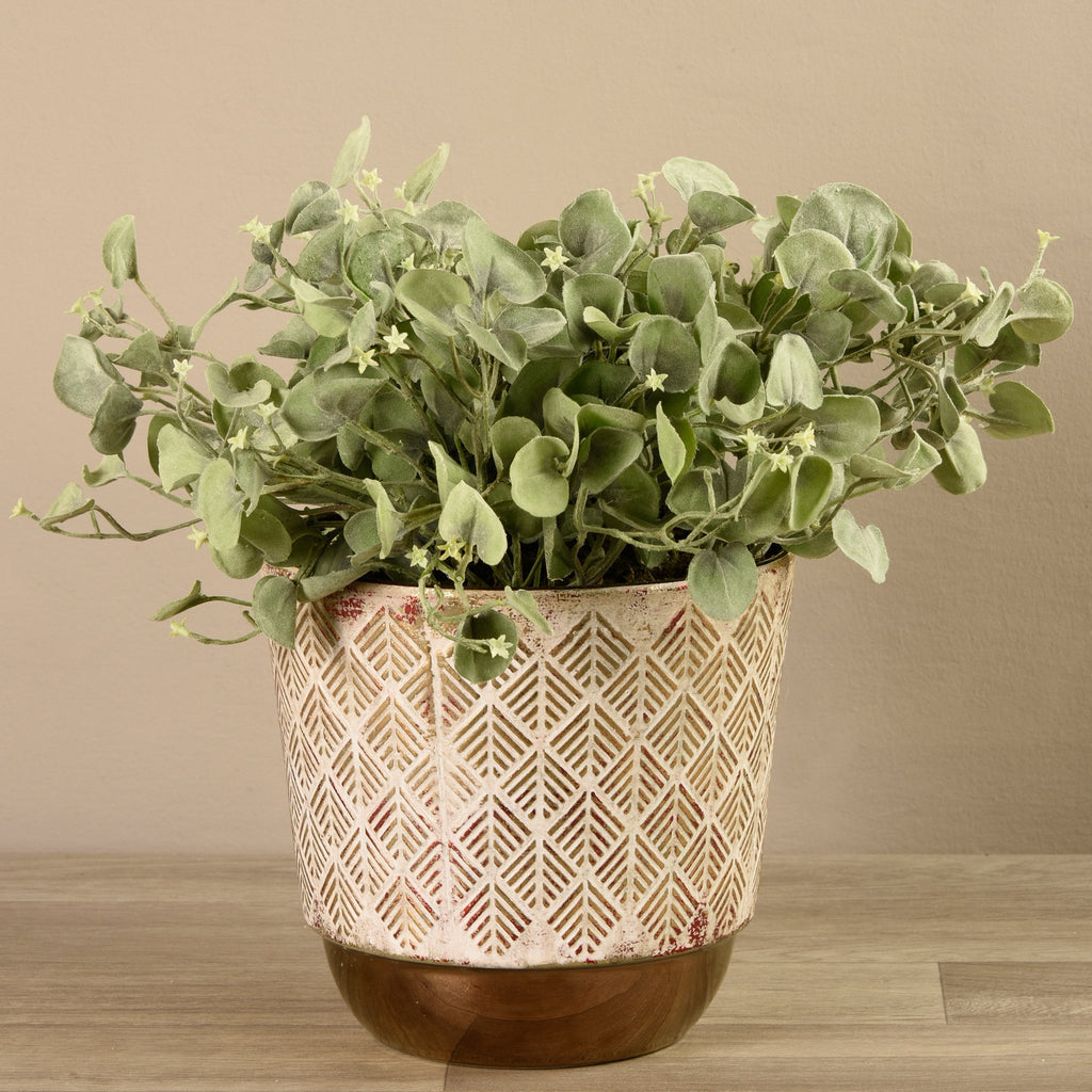 Bloomr-USA Plants Potted Silver Fall Plant artificial flowers artificial trees artificial plants faux florals
