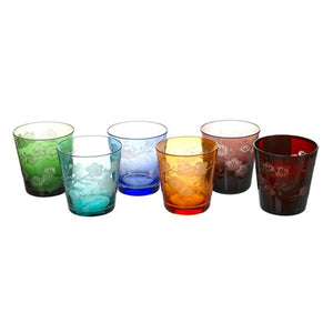 Set vasos Glass Blossom