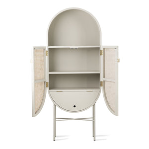 Cabinet Retro Oval Light Grey