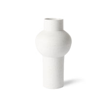 Speckled clay vase round M