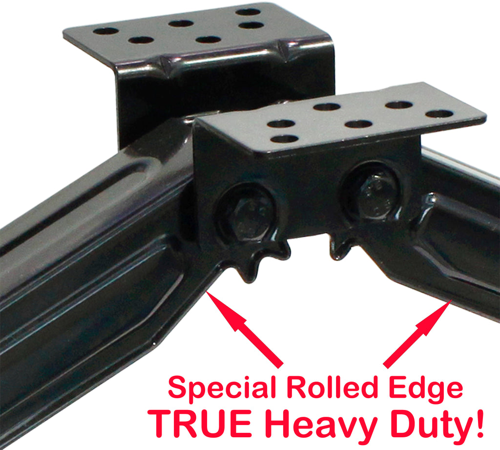 LucaSng Set of 2 5000lbs 24 RV Trailer Stabilizer Leveling Scissor Jacks w//Dual Power Drill sockets /& mounting Hardware Set with Crank Handle Fit for RV Trailer Camper