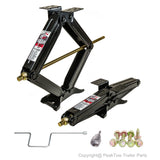 PEAKTOW PTJ0602 Including Handle & Power Drill Socket & Hardware 5000lb. 24 Inches RV Trailer Stabilizer Leveling Scissor Jacks Pack of 2