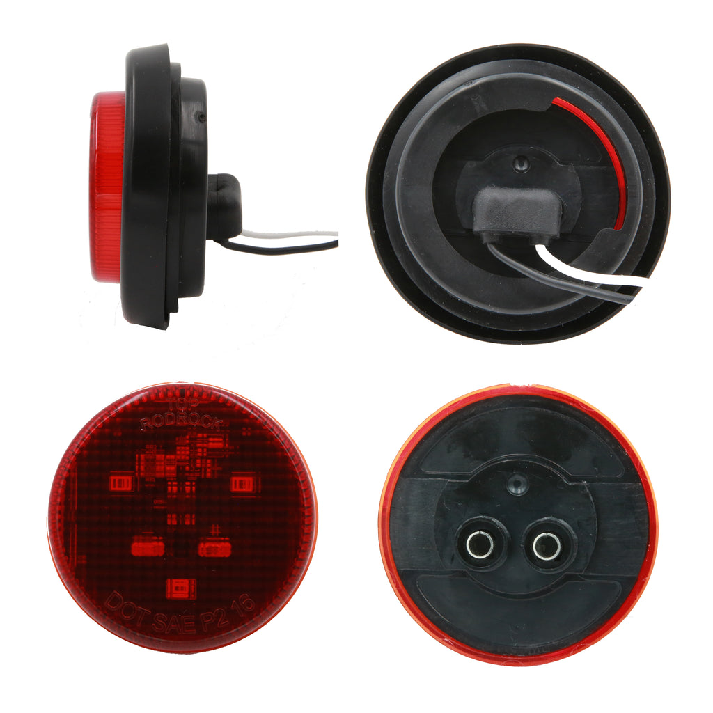 Peaktow Round Led Red 2 U0026quot  Submersible Marker Light W