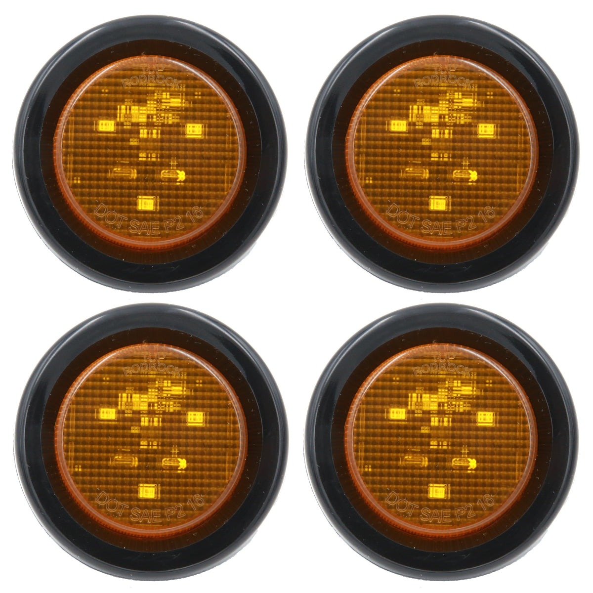 Peaktow Round Led Amber 2 U0026quot  Submersible Marker Light W
