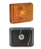 "PEAKTOW PTL0272 Rectangular 2""X3""  Amber LED Submersible Clearance Marker Lights with Reflex - 4PK"
