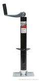 PeakTow PTJ0225 A-Frame 2000 Lbs. Capacity Top Wind Trailer Jack With 5000 Lbs. Capacity Foot Plate