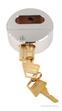 "PEAKLOCK PLS0005 Heavy-Duty Keyed Alike 2-7/8"" Hidden Shackle Trailer Door Lock With Two Keys 4PK"