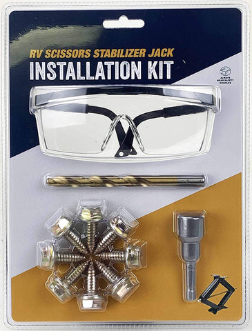 PEAKTOW PTJ0631 RV Stabilizer Jack Installation Kit