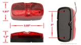 PEAKTOW PTL0221 Double Bullseye Red LED Clearance Marker Taillight Brake Stop Lights 10PK