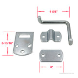 PEAKTOW PTT0021 Stake Body Rack Straight Mount Bent Bracket Gate Corner Latch Set W/ Hardware 2PK