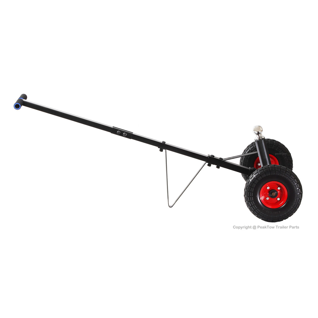 Capacity w//Flat Free Tires PeakTow PTT0109 Trailer Dolly 600 lbs