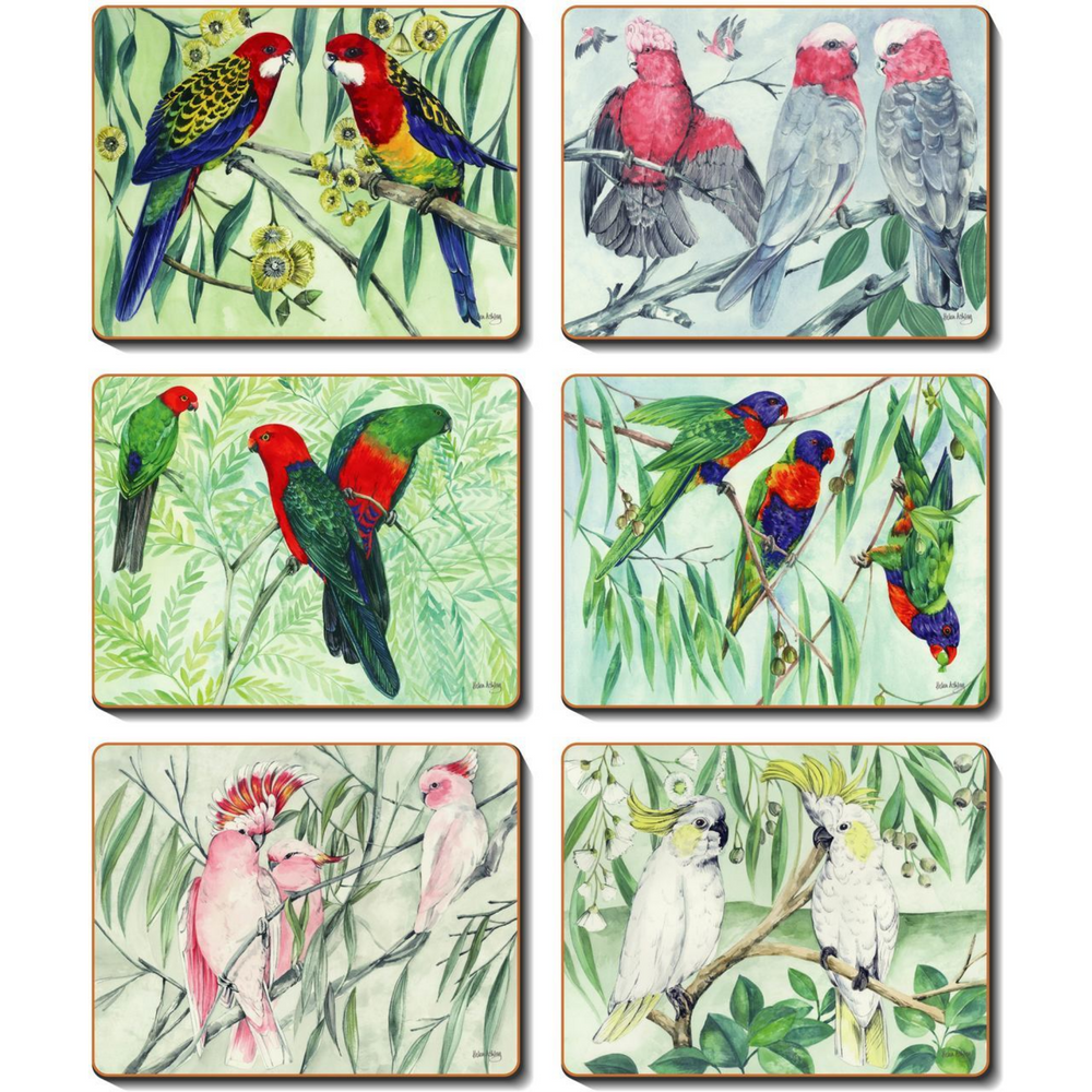 Australia Parrots Placemats and Coasters