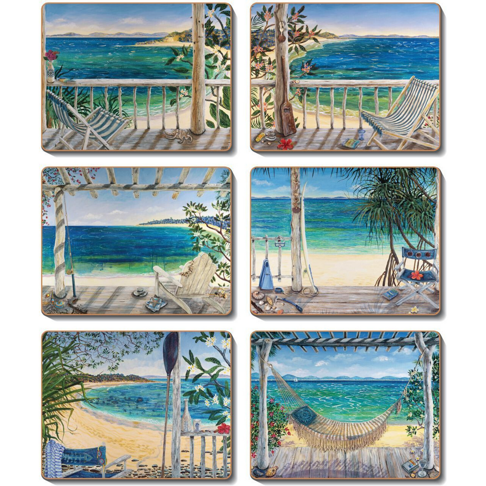 Beach Balconies Placemats and Coasters