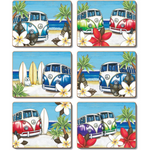 Beach Kombi Placemats and Coasters