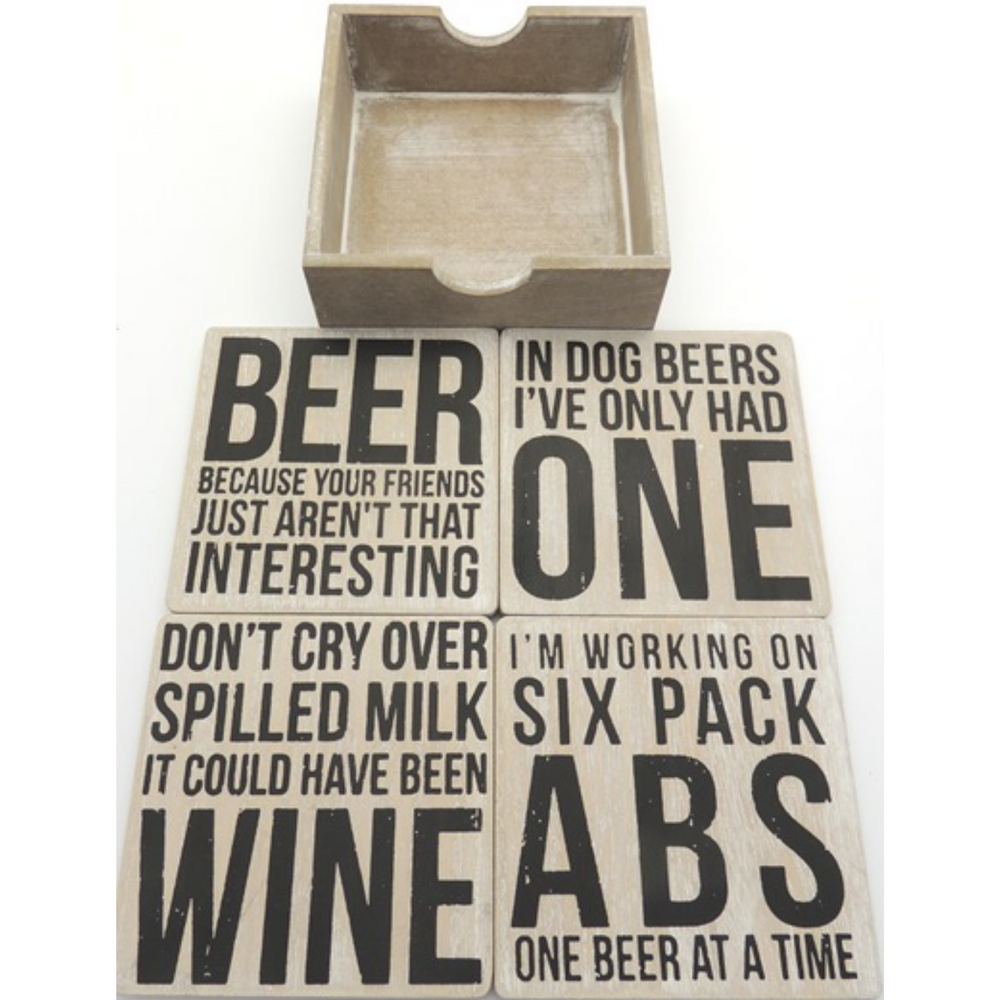 Beer Because Your Friends - Coasters