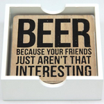 Beer Coasters Timber
