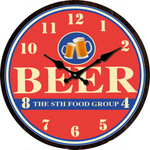 Beer the 8th Food Group Clock