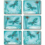 Blue Dragonfly Placemats and Coasters