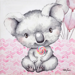Critters PINK Canvas 20x20 Kelly Lane