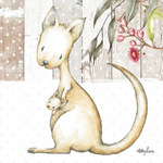Baby Joeys KANGAROO Canvas 20x20 Kelly Lane