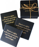 Ceramic Coasters Black Night's Friends