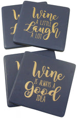 Ceramic Coasters Wine Navy