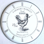Clock Iron Rooster Farmers Market 29cm