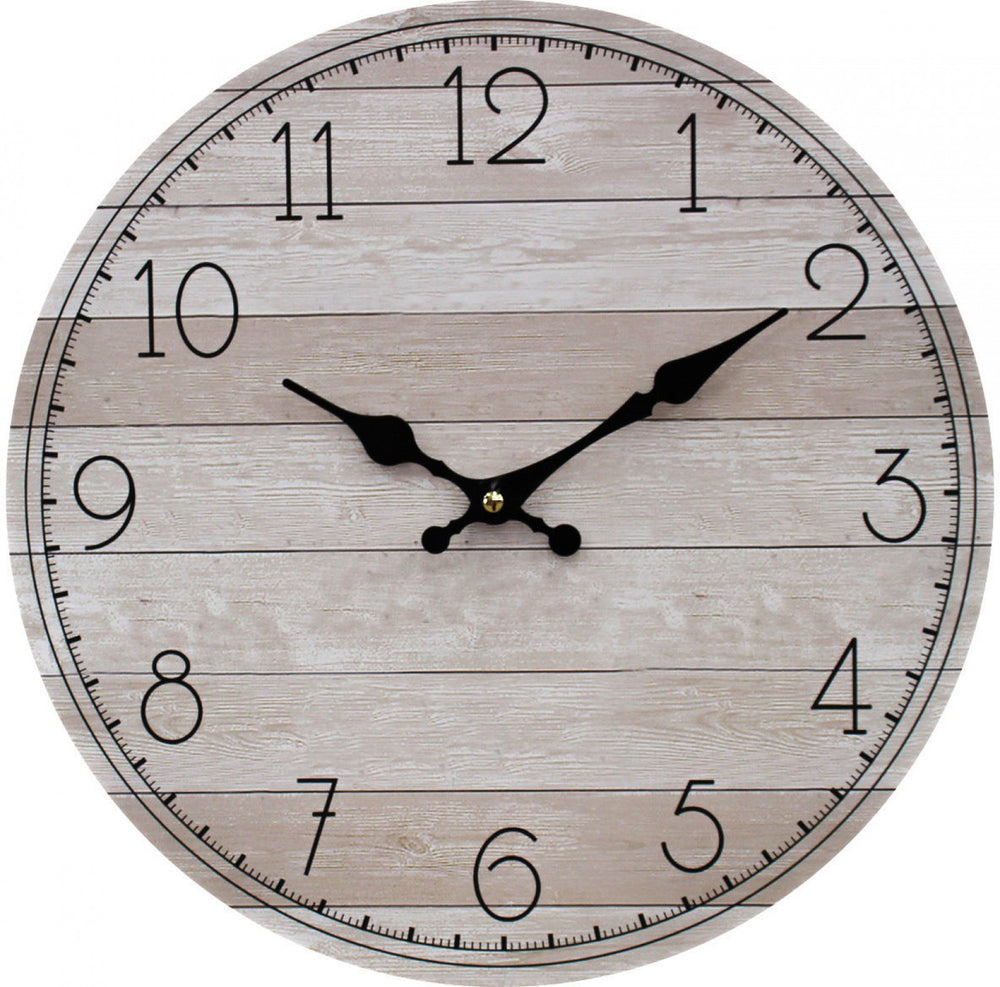Clock Nat/White