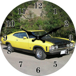 Clock Yellow Ford GT 30cm
