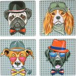 Coaster Hipster Dogs Ceramic