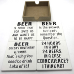 Beer Coasters Set of 4