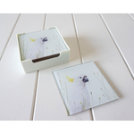 Artist Lab - Rachel Hollis - Sulphur Crested Cockatoo- - GLASS Coaster Set