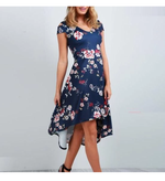 Floral Print Cold Shoulder Mid Dress - Dress - Brecha Australia