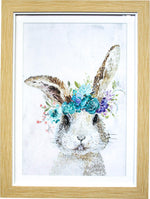 Framed Print Flower Bunny