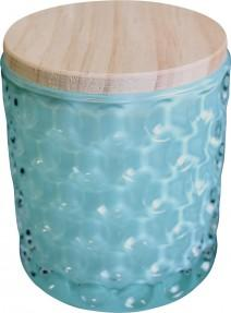 Glass Jar Bubble Round Teal | Brecha Home