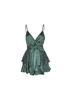 Jade Spotted Womens Playsuit