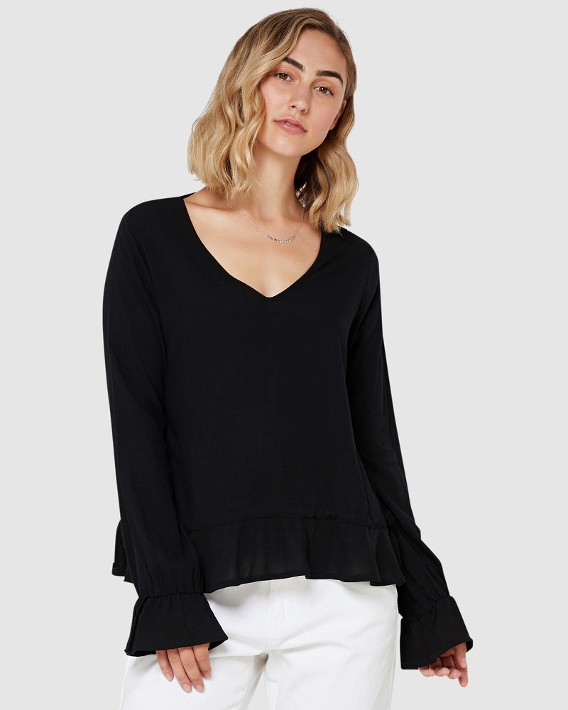 Kayley Womens Top Black | Elwood | Brecha