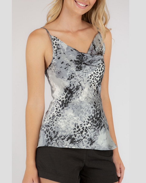 Leopard Print Cami Style State Womens Top