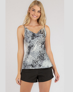 Leopard Print Cowl Neck Cami Style State