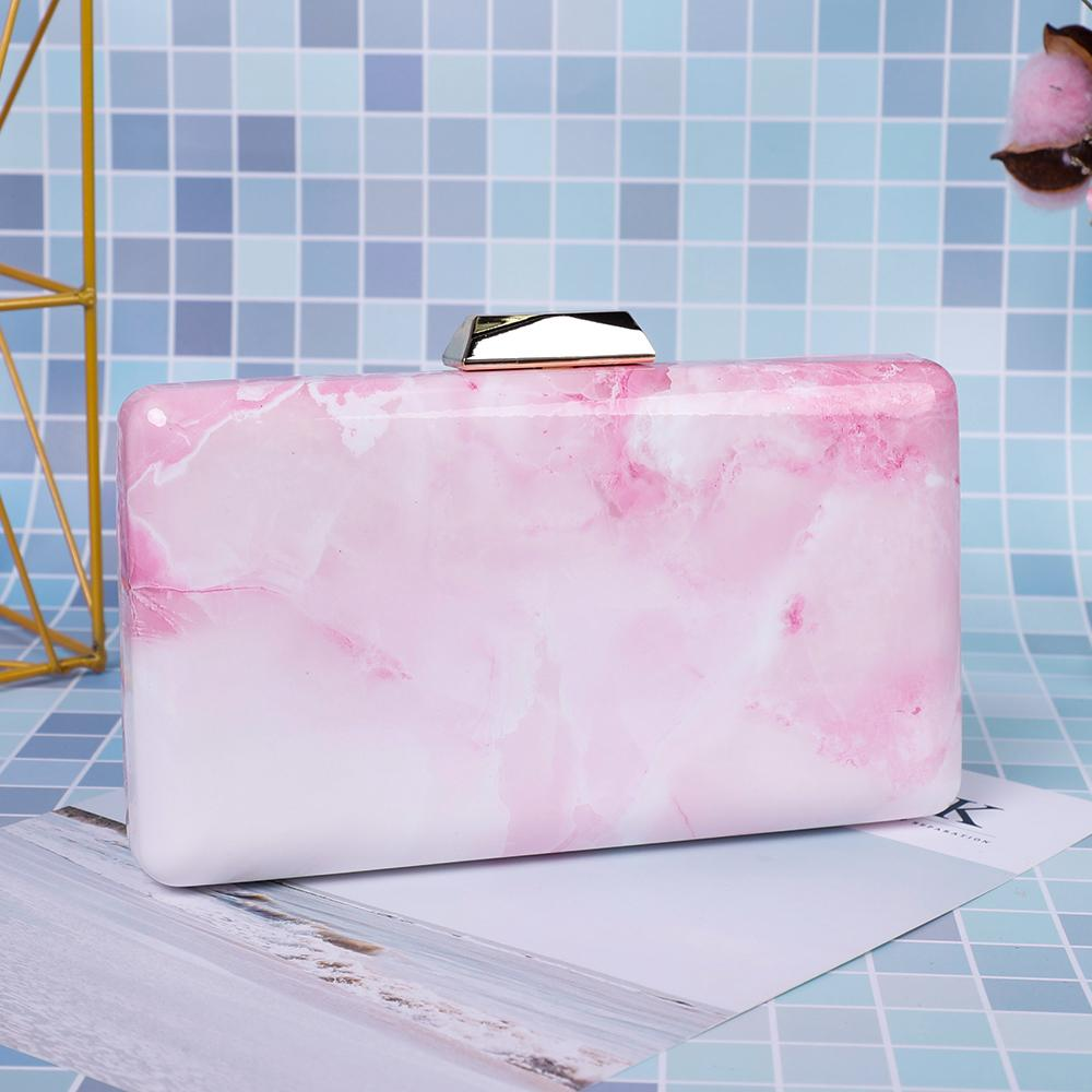 Smooth Marble Acrylic Clutch