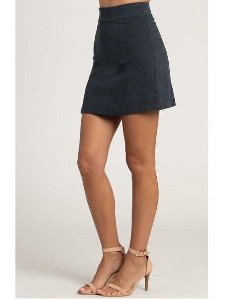 Style State Matt Suede Mini Skirt