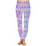 Mermaid Print Seamless Yoga Leggings