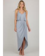 Stylestate Singlet Strap Dress With Frill Layer Detail