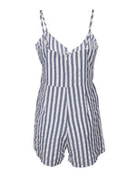 Stripe Playsuit Tie Cross Front Oscar St