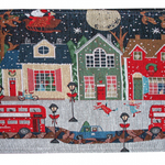 Table Runner City Bus Christmas