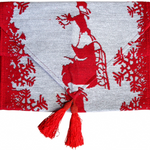 Table Runner Santa Sleigh