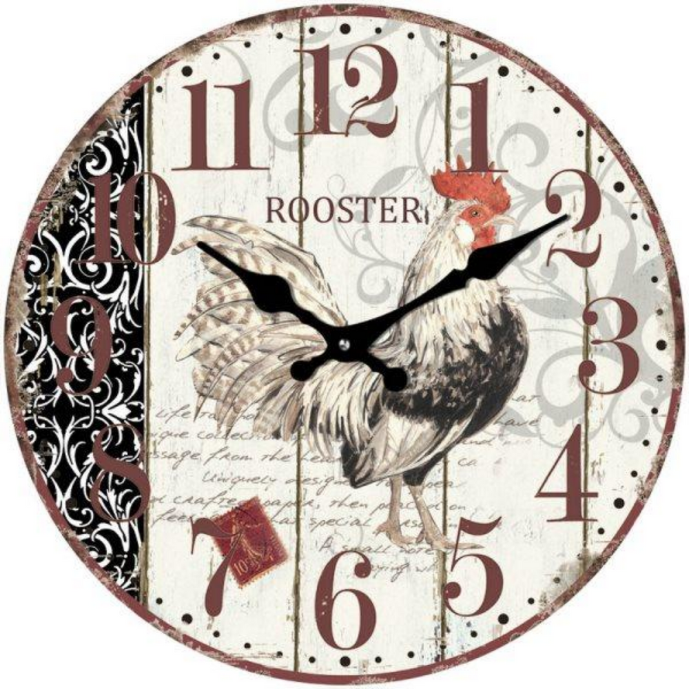 "The Rooster ""Cockerel"" Clock 17cm"