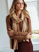 Tygon striped knitted scarf