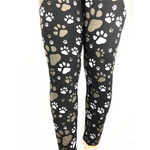 Paw Print Soft Leggings