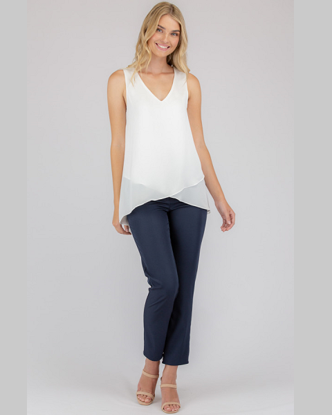 V-Neckline Sleeveless Top